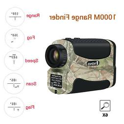 1000Yards 6X25mm Golf Hunting Laser Rangefinder Speed Scan F