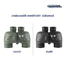 10X50 Binoculars Rangefinder Compass Waterproof Outdoor Hunt