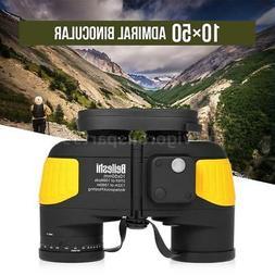 10X50 Marine Binoculars Waterproof With Rangefinder Compass