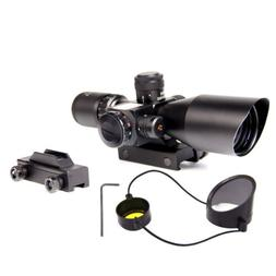 2.5-10x40 Illuminated Rifle Scope w/ Red Green Mil-dot Laser