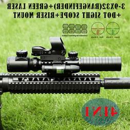 3-9X32 EG Illuminated Rifle Scope HD119 Red & Green Dot Refl
