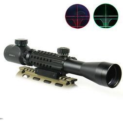 3-9x40 Hunting Rifle Scope Red/Green illuminated Range Finde