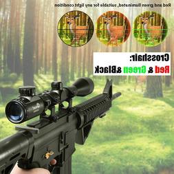 3-9X40 Red Green Rangefinder Illuminated Optical Sniper Rifl