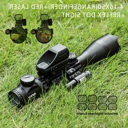 3in14-16x50 Rangefinder Rifle Scope w/ 4 Reticle Green/Red D