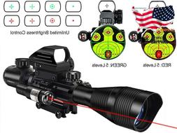 Midten 4-12X50 Dual Illuminated Scope With Dot Sight  Laser