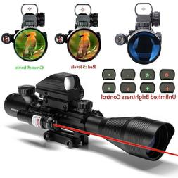 4-12X50 EG R&G Hunting Rifle Scope, w/ Holographic Dot Sight