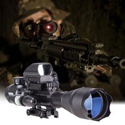 Pinty 4 in 1 Scope Combo 3-9x32EG Rangefinder Illuminated Ri