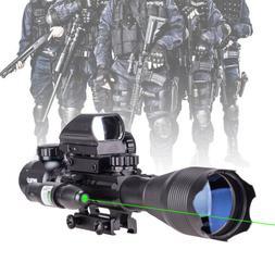 4-16x50 Rangefinder Rifle Scope Holographic Reflex Dot Sight