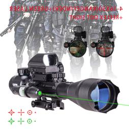 4-16x50 Rangefinder Rifle Scope Holographic Reflex Dot Sight