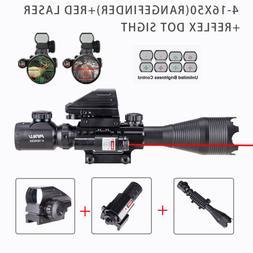 4-16x50EG Rangefinder Rifle Scope w/ Green/Red Illuminations