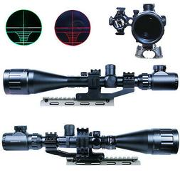 6-24X50 AOEG Rifle Scope Dual illuminated with Red Laser Sig