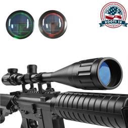 6-24X50AOEG Optics Green/Red Mil Dot Reticle/Rangefinder Rif