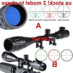 6-24x50AOEG Red/Green Mil Dot / Rangefinder Scope Sight / Sc