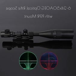 Pinty 6-24x50mm Rifle Scope Rangefinder Red Green dot Sight