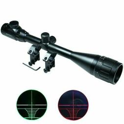 6-24x50 Hunting Rifle Scope Red Green Dual illuminated with