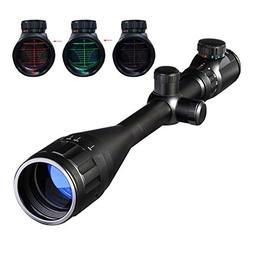 Pinty 6-24x50 AOEG Red & Green Rangefinder Mil-Dot Illuminat