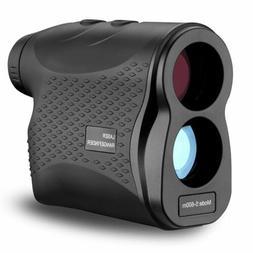 600M 6X Golf Laser Range Finder Rangefinder LCD Yardage Devi