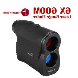 6X Magnification Laser Range Finder 600M Distance Meter Flag