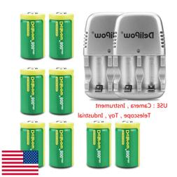 8-Pack Battery CR2 3.0V Rechargeable Recycle&2PCS Charger Fo