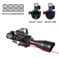 Pinty Rifle Scope 4-12x50EG Rangefinder Mil Dot Tactical Ret