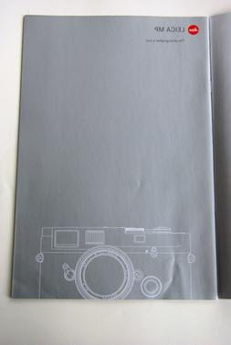 Leica brochure on Leica MP M range find film camera and lens