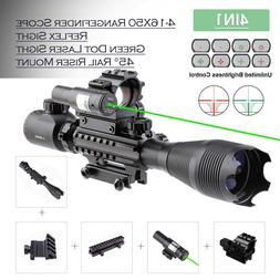 Combo Rifle Scope 4-16x50 Reticle w/ Green Laser&Red Green D