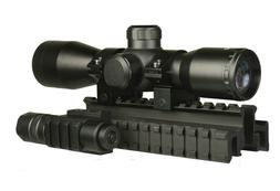 Compact 4x32 Scope Rangefinder Reticle,Red Laser + LED Flash