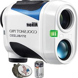 Nikon Coolshot Pro Stabilized Golf Rangefinder + CR2 Battery
