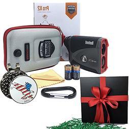 Bushnell GIFT PACK Pro X2 Golf Laser Rangefinder | Includes