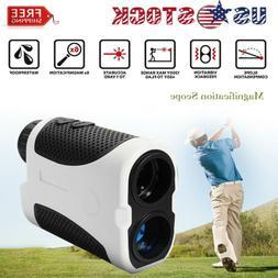 Golf Laser Range Finder w Slope Compensation Angle Scan Pins
