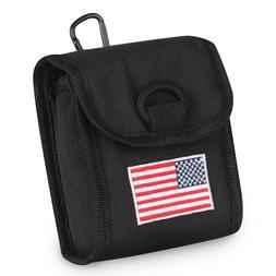 Golf Rangefinder Case Cover Magnetic USA Flag with Carabiner