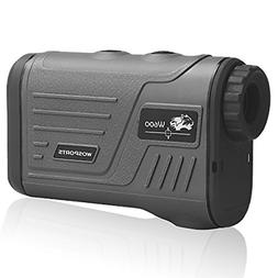 Wosports Golf Rangefinder Laser Hunting Range Finder with Fl