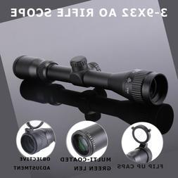 HD3-9X32AO Rifle Scope Fits with Air Gun, Airsoft Gun, Rifle
