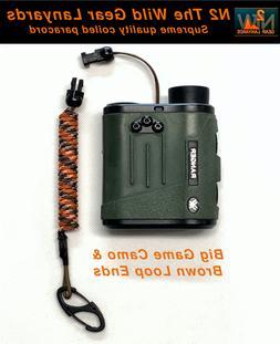 Hunting Fishing Lanyard Big Game Camo & Brown GPS Bino Harne
