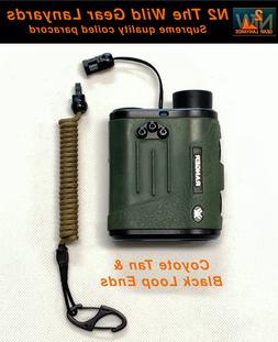 Hunting Fishing Lanyard Coyote & Black Rangefinder GPS Coile