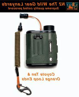 Hunting Fishing Lanyard Coyote Tan & Orange  Rangefinder GPS