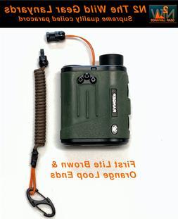 Hunting Fishing Lanyard First Lite Brown & Orange  Rangefind
