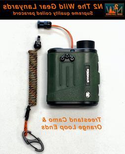 Hunting Fishing Lanyard Treestand Camo & Orange  Rangefinder