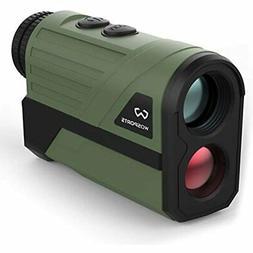 Wosports Hunting Rangefinder, Laser Speed Measure Finder, 6X