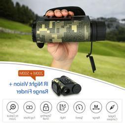 Infrared laser range finder binoculars night vision monocula