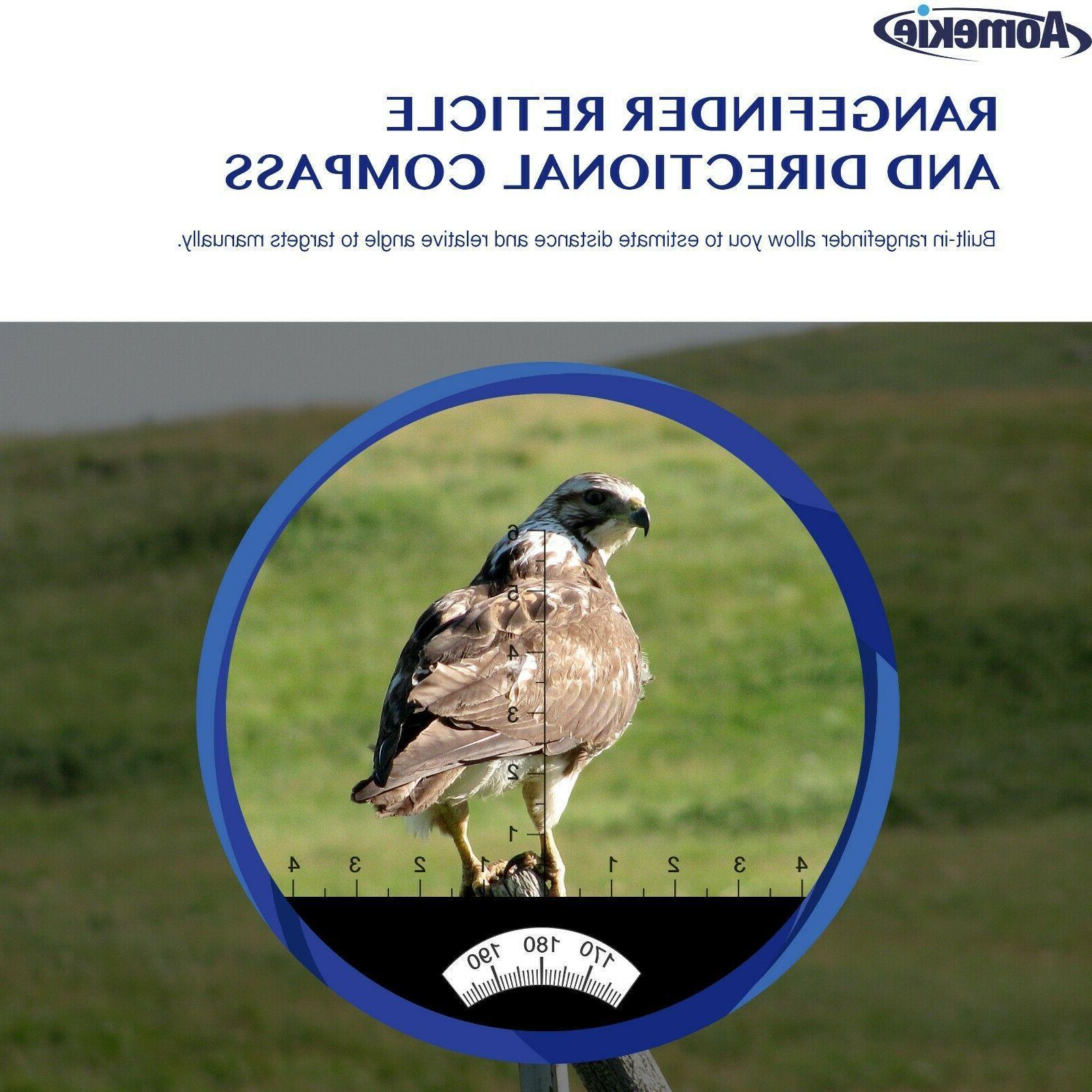 10X50 Low Light Vision Binoculars HD Rangefinder Compass
