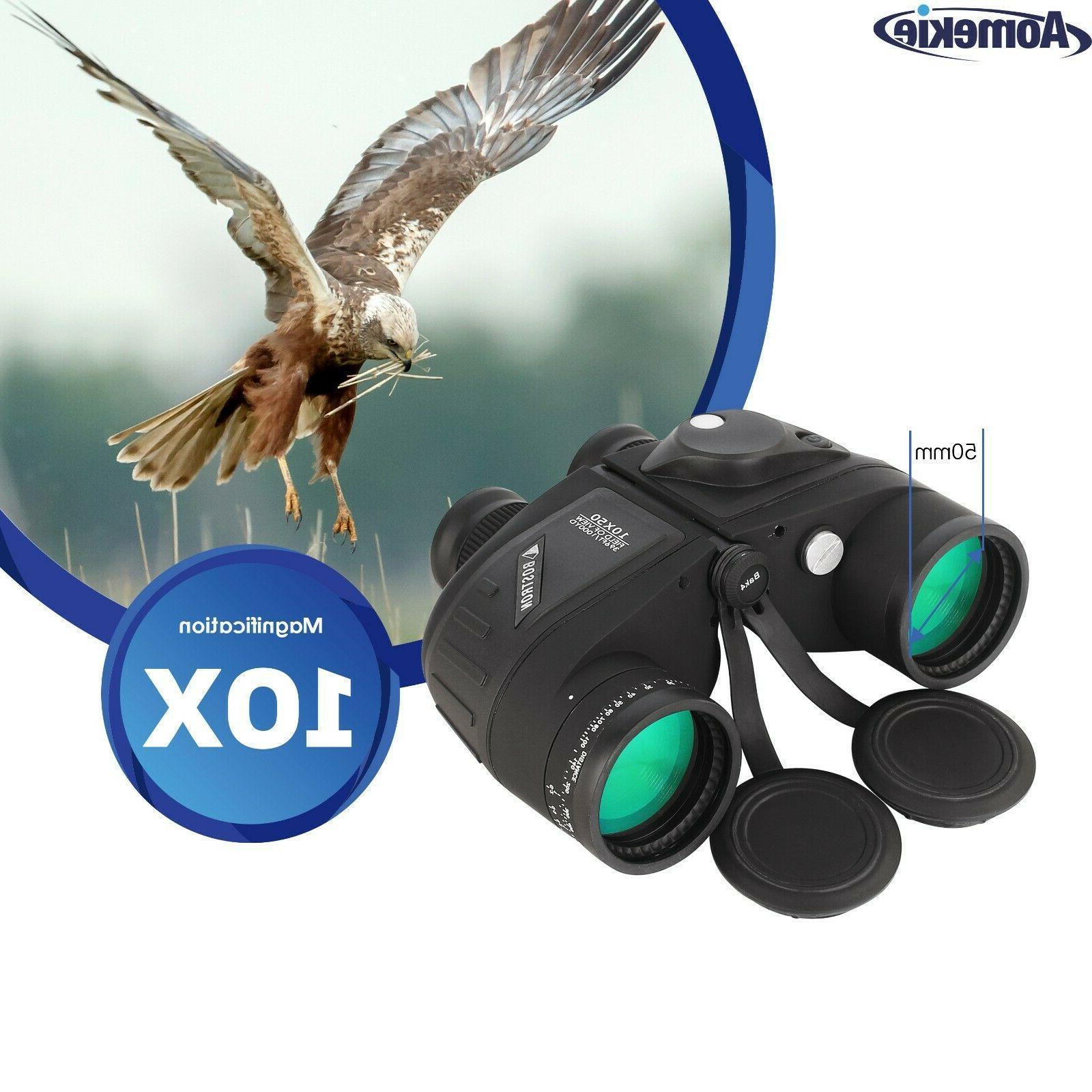 10X50 Low Light Night Vision HD Rangefinder Compass