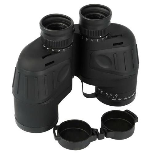 10x50 Waterproof Low Light Vison Binoculars Marine w/ Compas