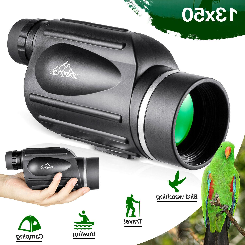 BUMLON 13x50 HD Rangefinder Spotting Scope Monoculars with R