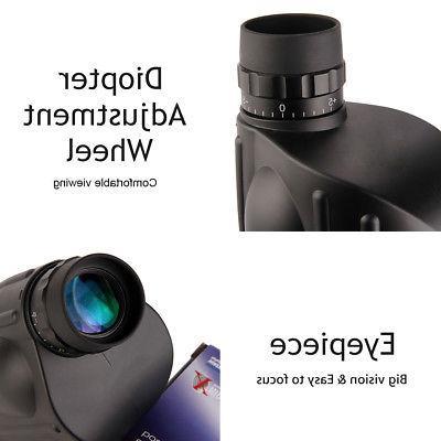 13x50 Rangefinder Spotting Scope Monocular Measurable Waterproof US