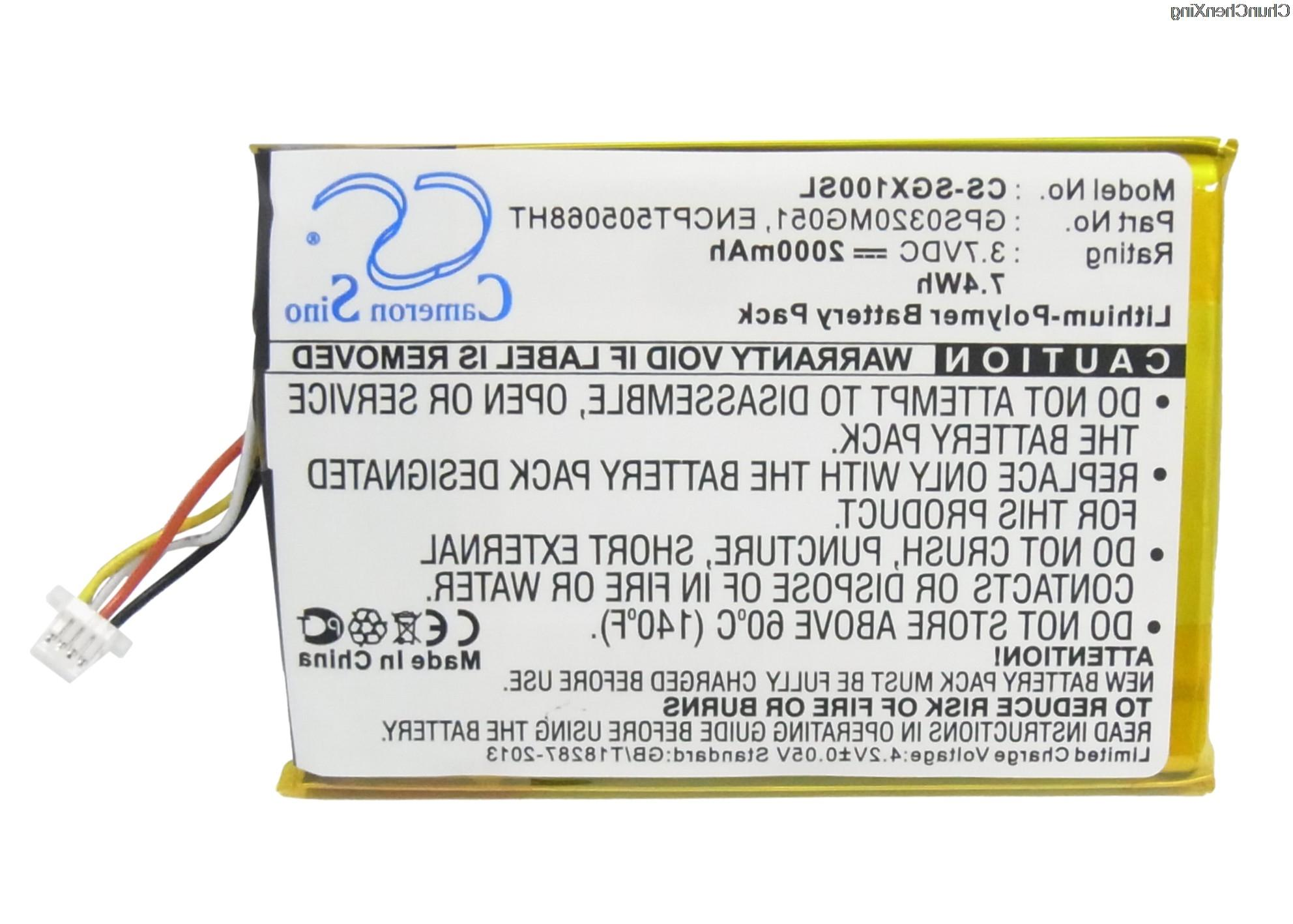 2000mah battery gps0320mg051 for skygolf skycaddie sgx