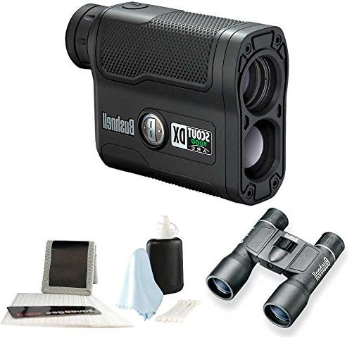 Bushnell Scout DX 1000 ARC Rangefinder with Binocular and Care Kit