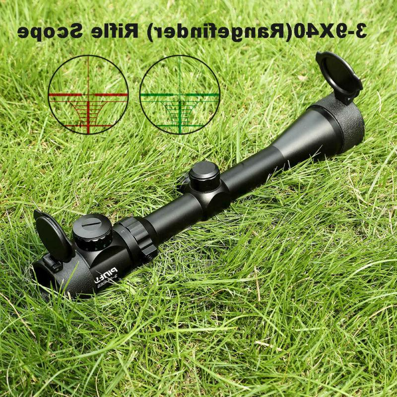 3 9x40mm rangefinder mil dot reticle illuminated