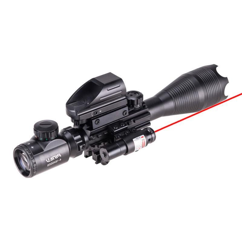 Pinty 4-16x50 Rangefinder Rifle Scope Dot Red