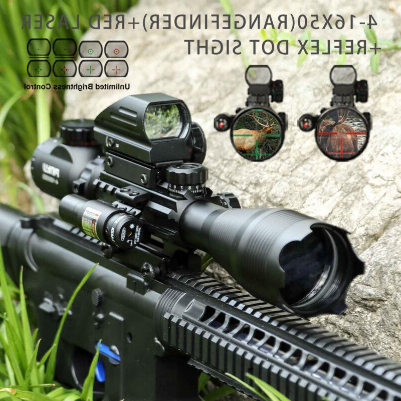 3in1 combo 4 16x50 rangefinder rifle scope